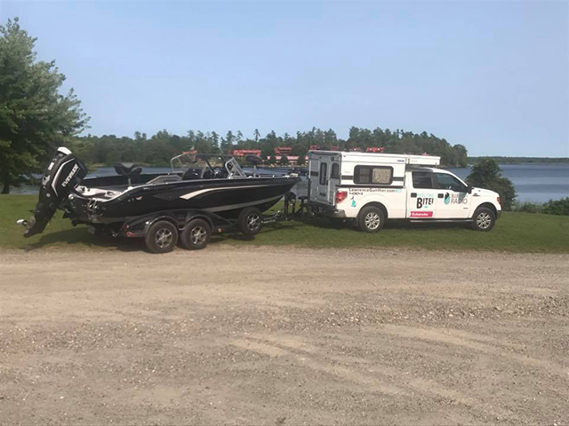 Lawrence Gunther's truck, camper and boat